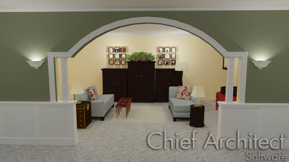 Polyline solids used to create custom arches