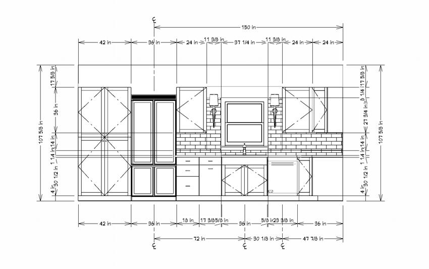 Wall Elevation with automatic dimensions