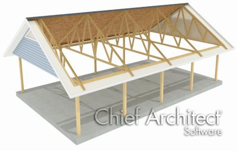 Post and Beam structure with exposed trusses