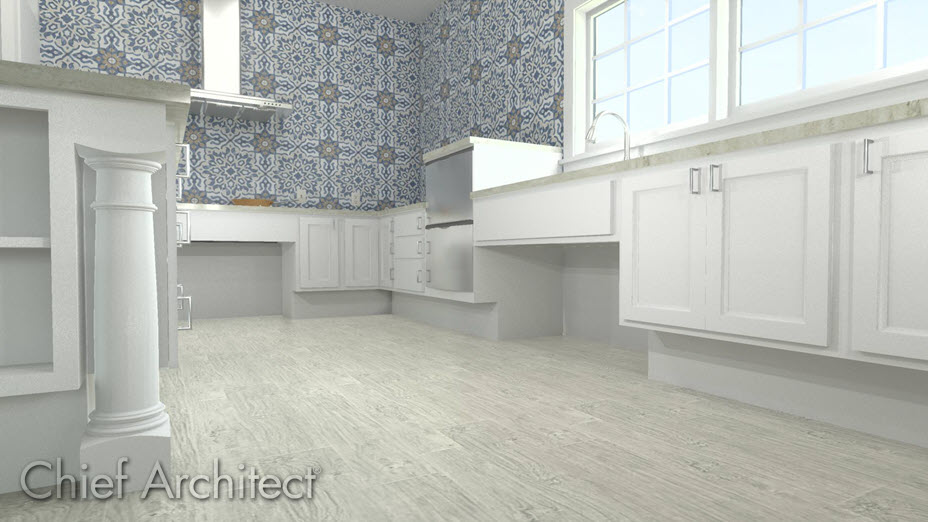 Barrier free cabinets in a kitchen