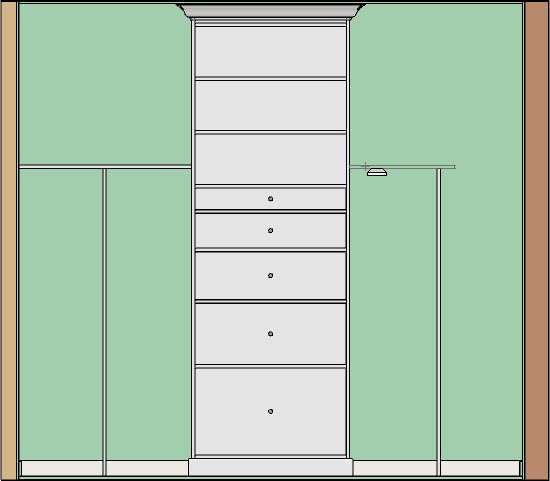 Placing shelves in a section view