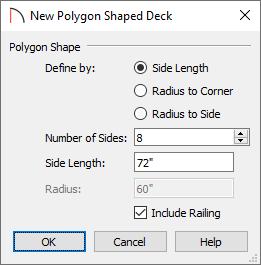 New Polygon Shaped Deck dialog