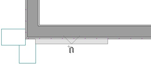 Floor Plan view showing placement of facade log piece