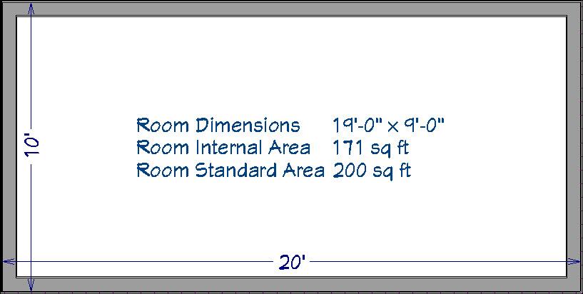 Room Dimension Macros in Floor Plan