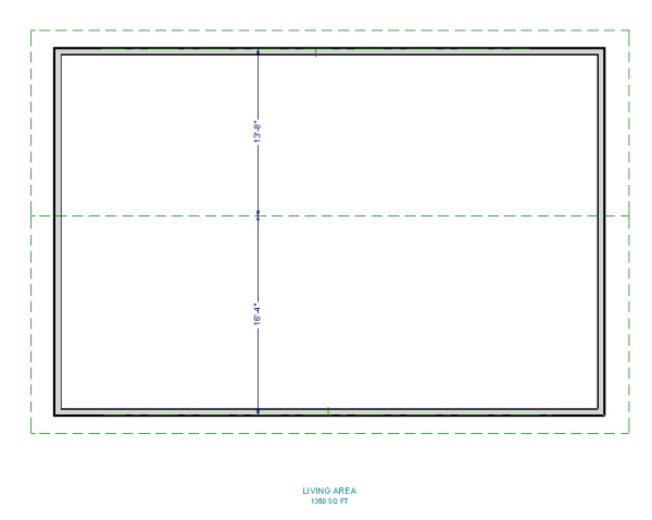 roof plane dimensions from floor plan view