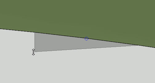 You can move the handles to reshape the retaining wall