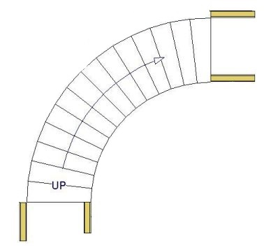 The Picture Above Shows The Placement Of These Straight Wall Sections As A  Preliminary Setup For Placing A Curved Wall Next To The Stairs And A Curved  Wall ...