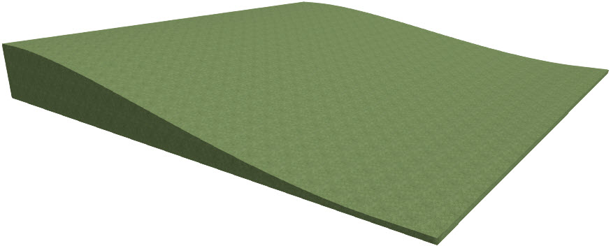 3D view of the sloping terrain