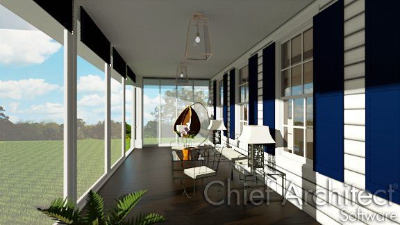 Creating a screened in porch with Chief Architect is easy to do.