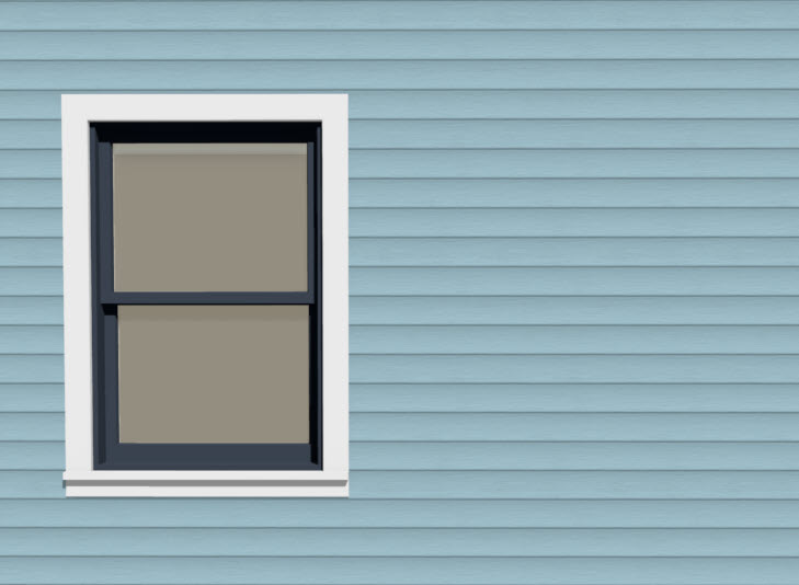 Window placed in the exterior wall