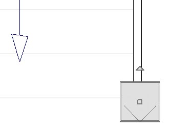 Floor Plan view showing newel and finial both selected together