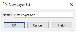 New Layer Set dialog where a name can be specified