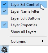 Turning on the Layer Set Control for the Active Layer Display Options side window