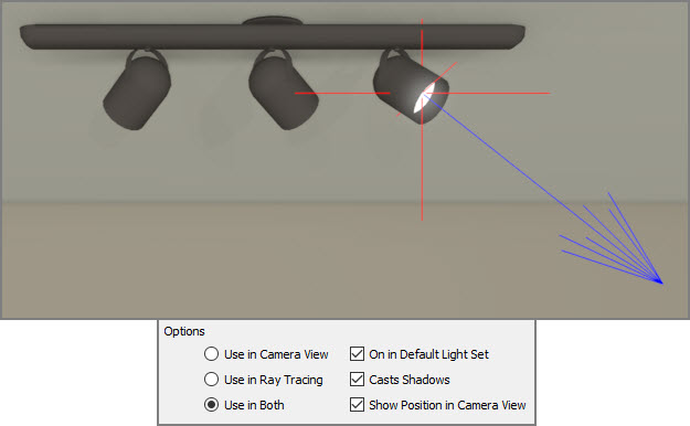 Show position in camera view enabled for light source 3