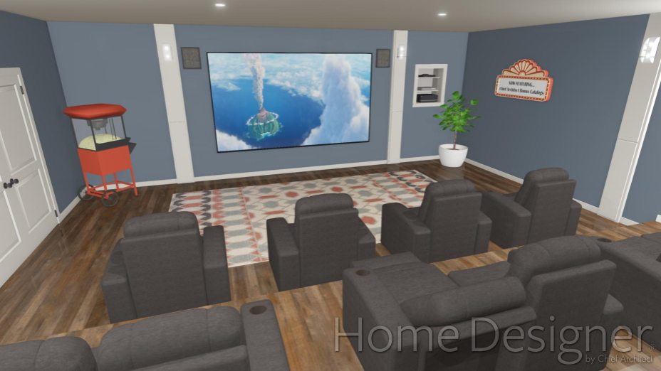 sample picture of an in home theater