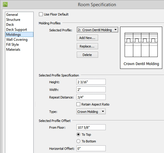 Chief Architect Premiere X4 Training Videos: Creating And Using Symbol Moldings