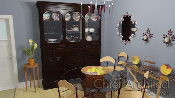 custom china cabinet hutch filled with dishes in dining room
