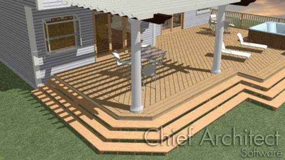 Custom deck planking with border
