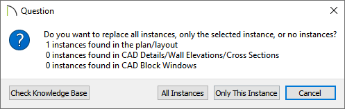 Question dialog that appears when editing CAD blocks in X13