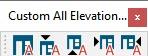 Custom undocked toolbar with multiple buttons