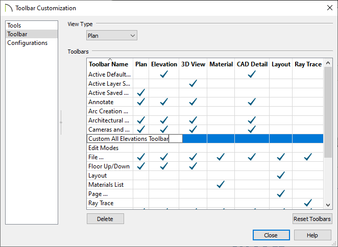Toolbars can be renamed in the toolbar customization dialog.