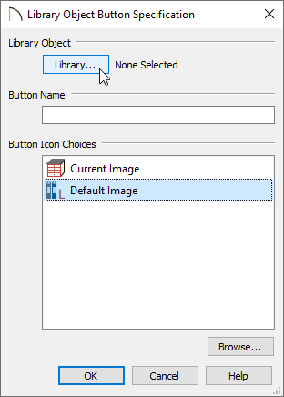 Changing the library object for the library object specification.