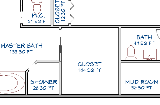 Floor Plan showing the size of the closet and other rooms