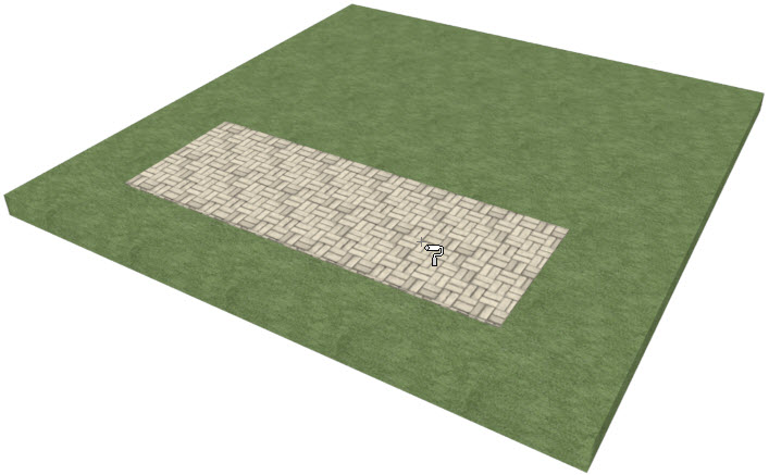 Changing the color of the texture on the driveway area
