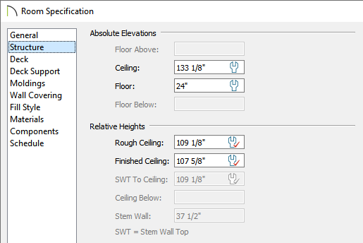 Adjust the Floor value to be different than what is set for the adjacent room