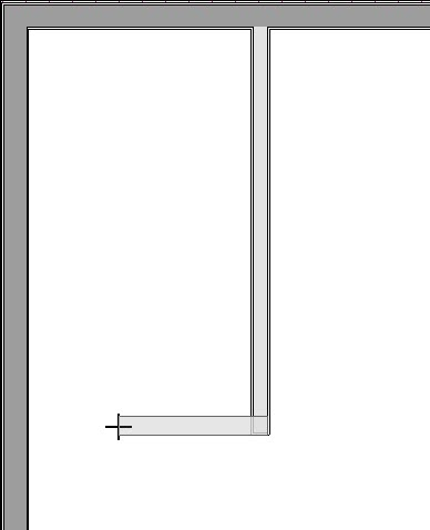 Drawing interior walls for the closet