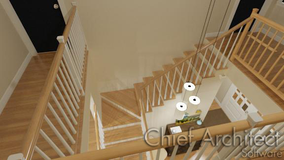Custom Stair Winders in L-shaped stairs
