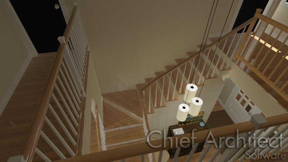 Custom Stair Winders in L-shaped stairs