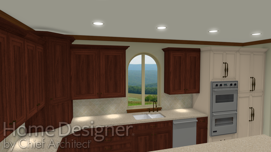 Molding applied to the top of Wall Cabinets