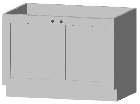 Base cabinet with double doors