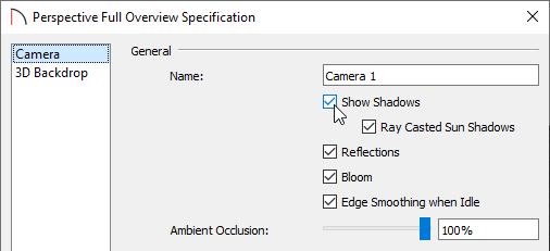 Check Show Shadows in the Specification dialog to display shadows in the view