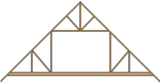 Attic trusses can be created manually