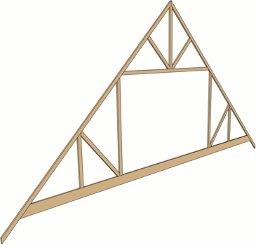 3D view of an attic truss