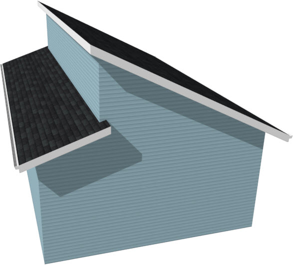 Perspective Full Camera view of a Clerestory roof