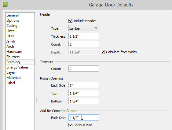 Creating a Cutout for Doors in Concrete Walls