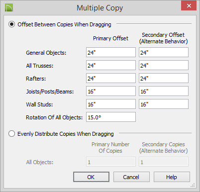 ... Edit Button And Specify The Desired Primary Offset Value For Trusses In  The Multiple Copy Dialog, And Then Click OK.
