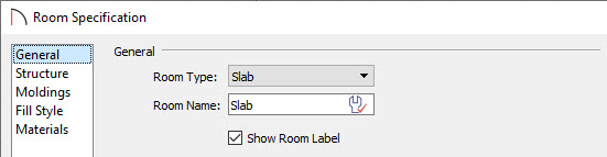 Change the Room Type on the General panel of the Room Specification dialog
