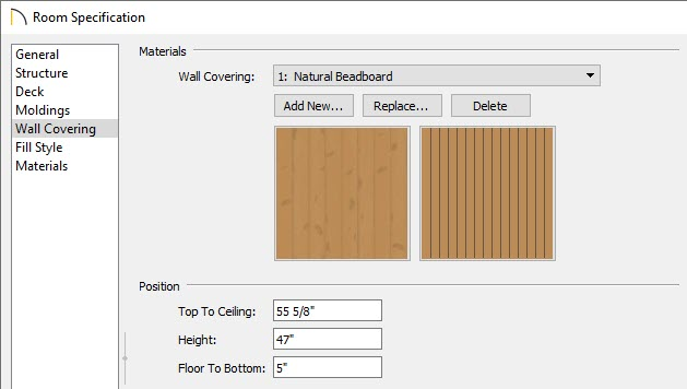 Showing how to use a wall covering
