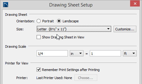 Printing On A Standard Letter Sized Sheet Of Paper