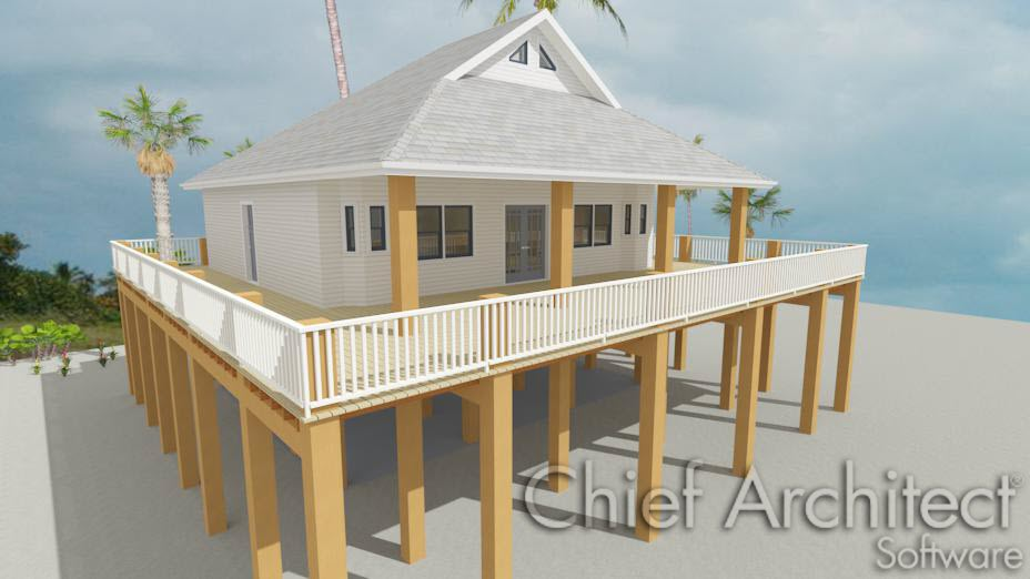 Creating an Elevated Structure on Pilings