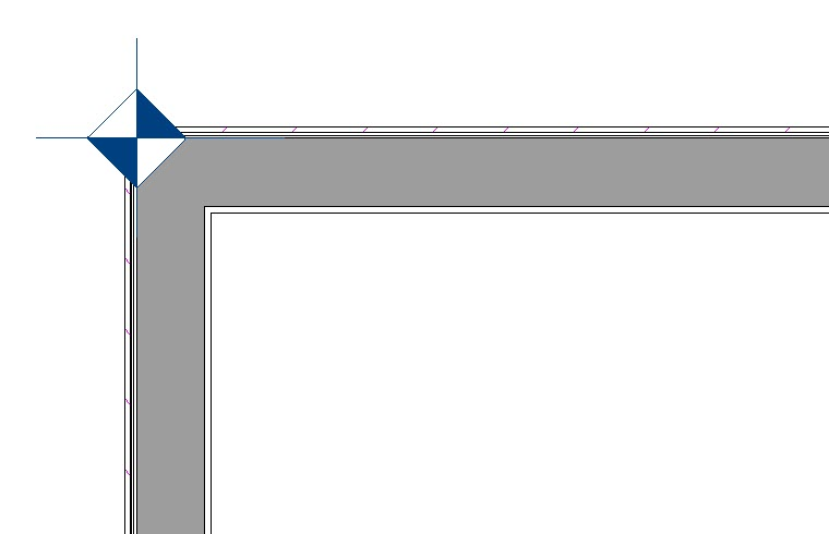 Framing Reference Marker displayed in corner where two walls connect