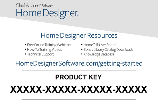 Finding Your Home Designer Product Key