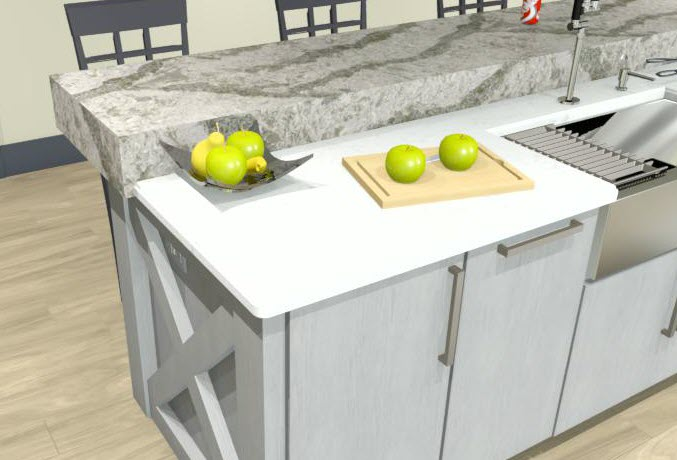 An example prep station in a kitchen