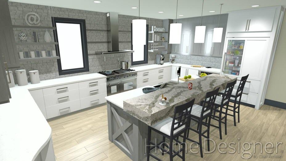 Designing work zones can help efficiency in the kitchen.