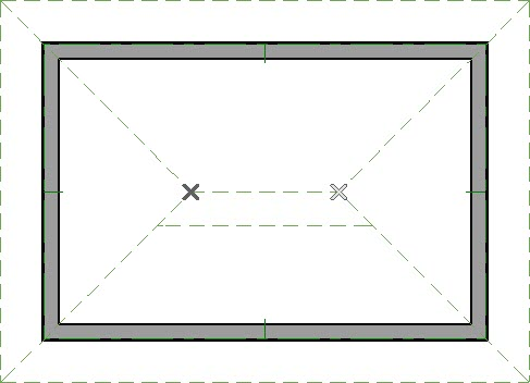 Temporary CAD points where roof plane intersect
