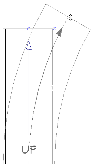 Adjusting a ramp to be curved